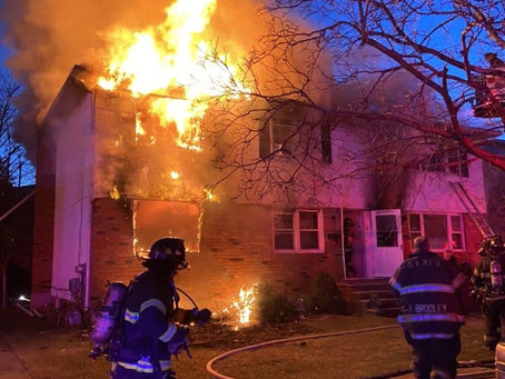 FS&M FD Operated at This Second Alarm Fire on Farnum blvd 12/23/19