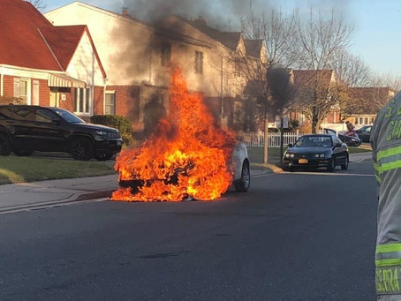 FSMFD Members operated at a car fire on Oaks Drive