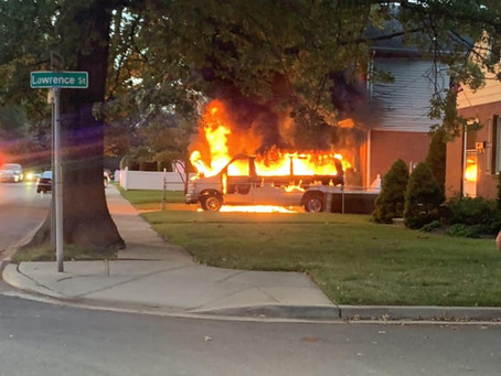 FSMFD Operated on a van fire with slight extension to a home 8/24/20