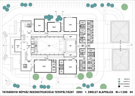 Népház (Jászai Mari Színház) rekonstrukciója és bővítése, Tatabánya tervpályázat