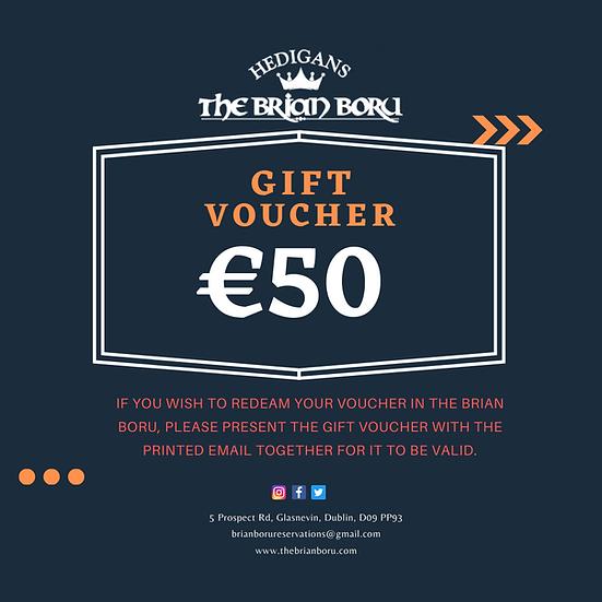 Brian Boru Gift Voucher €50