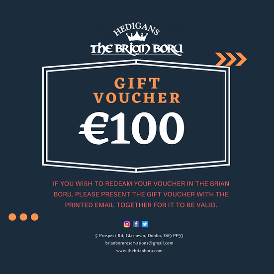 Brian Boru Gift Voucher €100