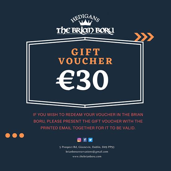 Brian Boru Gift Voucher €30