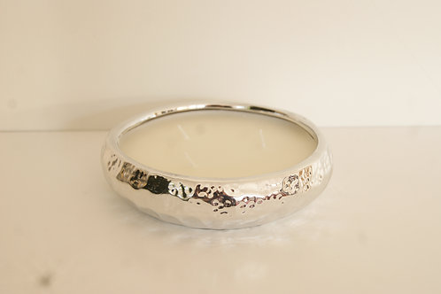 Scented Silver Dish Candle