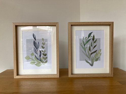 Pair Wall Hanging Olive Prints