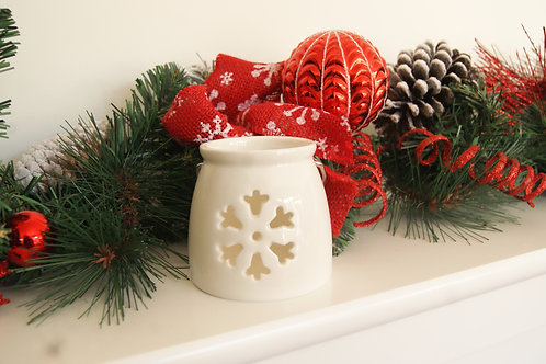 Ceramic Snowflake Tealight Holder