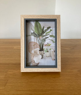 Natural Wood & Grey Photo Frame