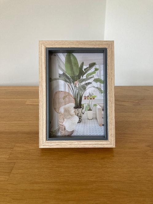 Natural Wood & Grey Photo Frame