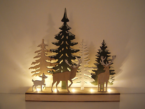 Light Up Woodland Scene