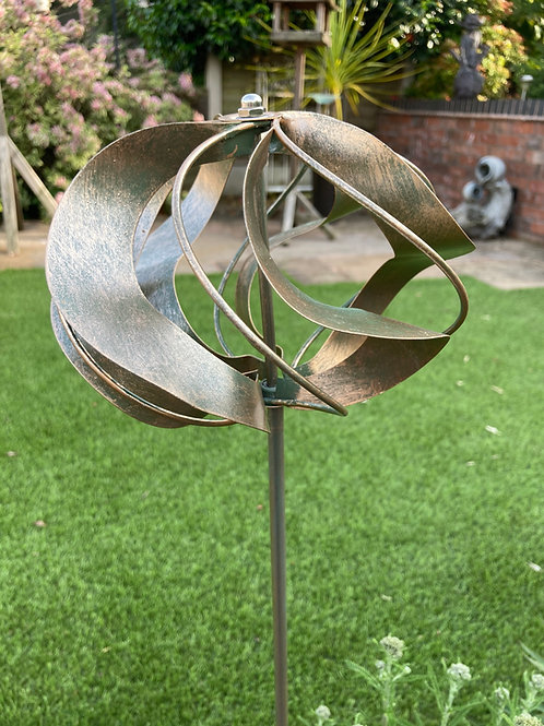 Rustic Wind Spinner Stake
