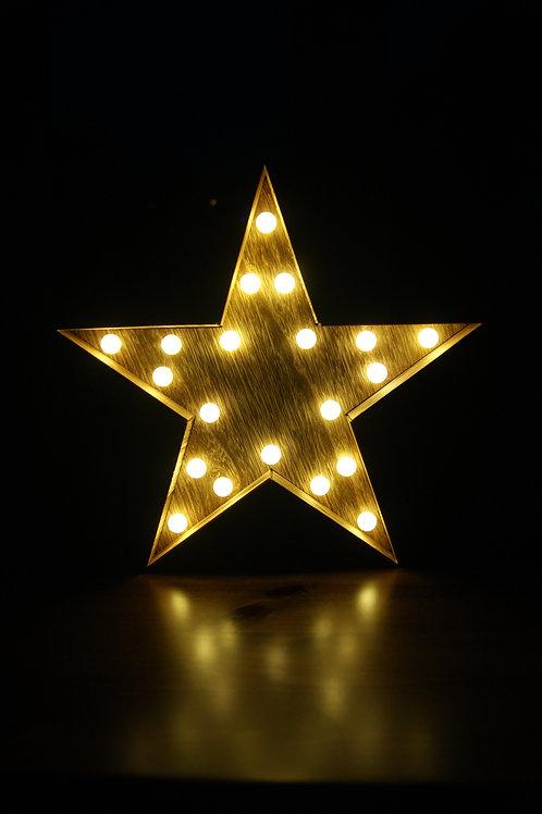 Wooden Star LED