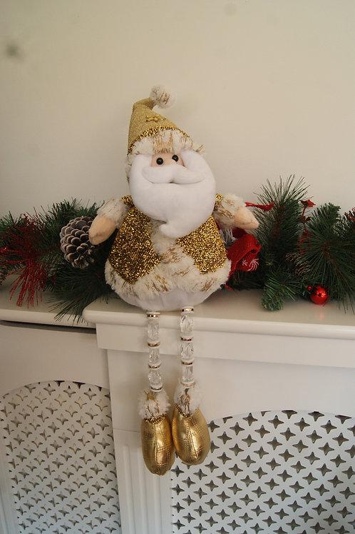 Gold Sitting Santa Decoration