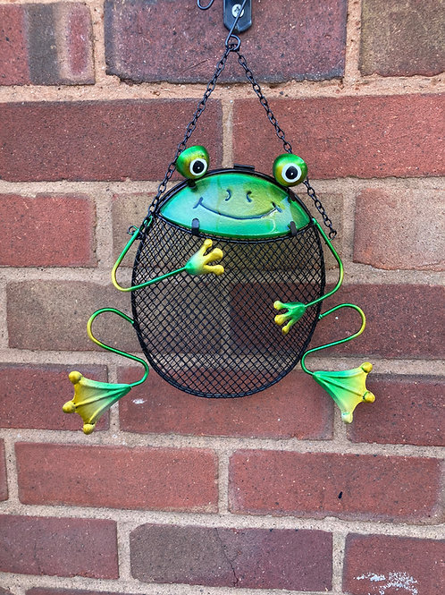 Frog Shaped Novelty Hanging Bird Nut Feeder