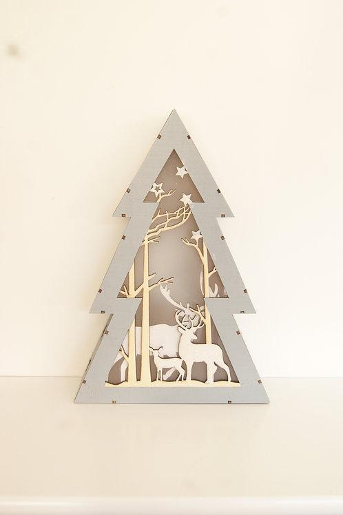 Led Wooden Light Up Christmas Tree