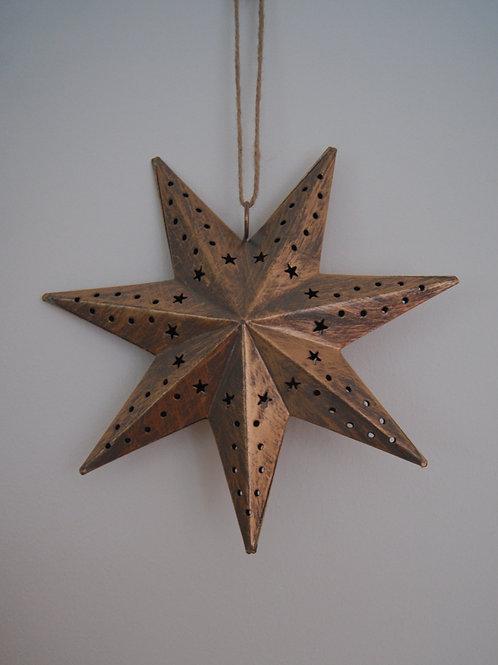 Gold Hanging Metal Star