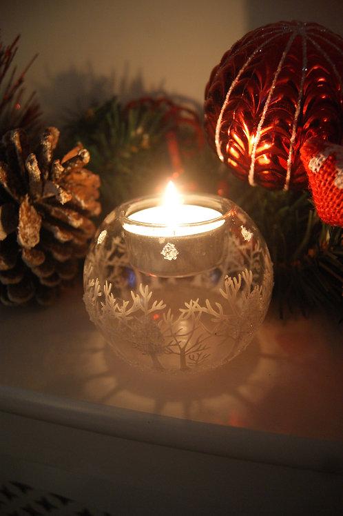Christmas Scene Tealight Holder