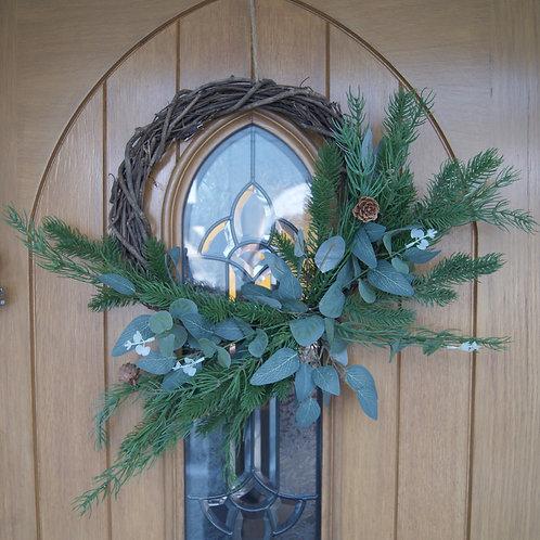 Pinecone & Leaf Woven Wreath