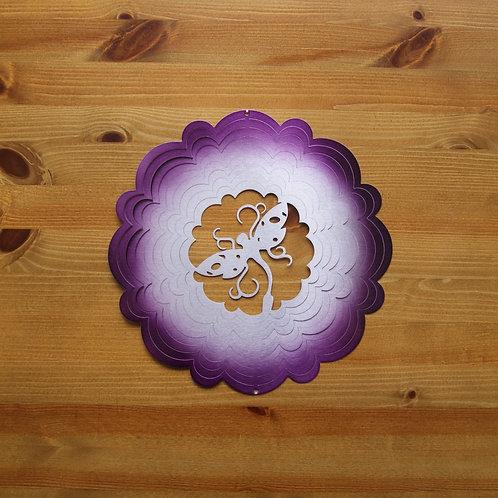 Purple & Silver Dragonfly Garden Spinner