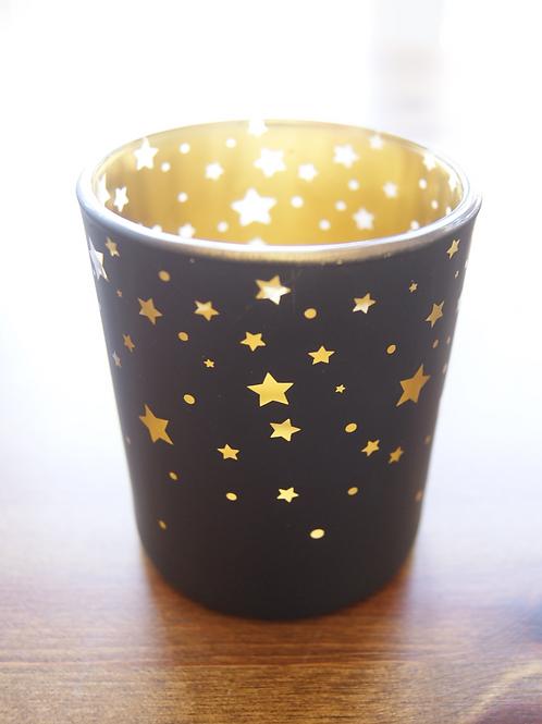 Starry Glass Tealight Holder