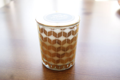 Geometric Glass Jar Candles