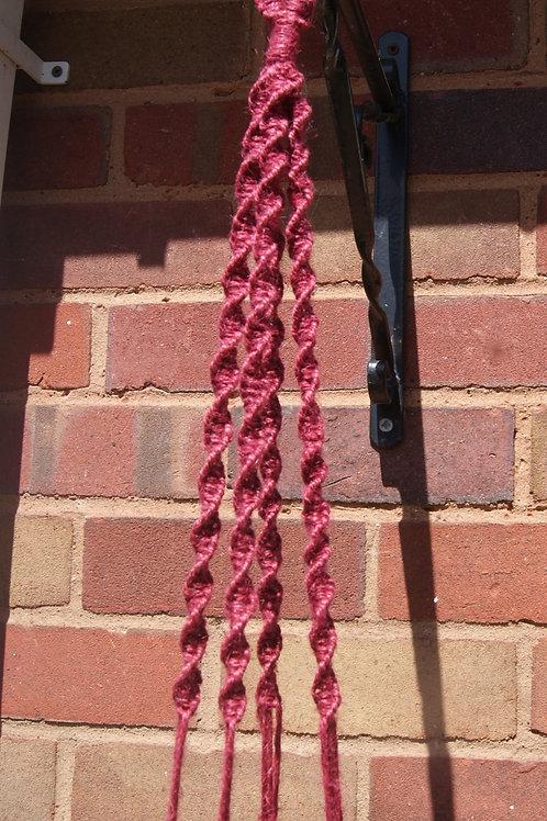 Handmade Red Macrame Plant Hanger