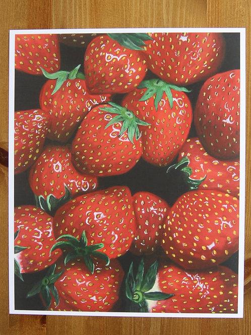 An Abundance Of Strawberries Print