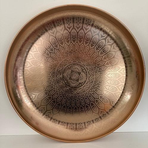 Mandala Etched Copper Dish 2 Sizes
