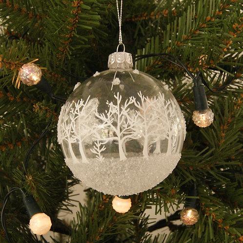 Glass Christmas Scene Bauble