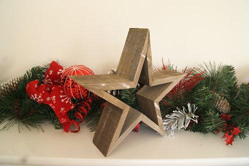 Rustic Wooden Star Ornament