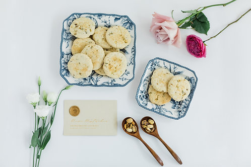 Rose & Pistachio Shortbread Cookies