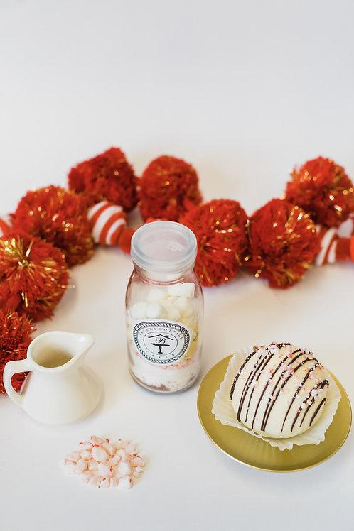 Peppermint White Chocolate, Cocoa Bomb