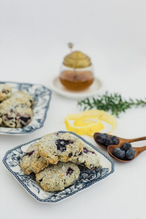 Lemon & Blueberry Earl Grey Shortbread Cookie