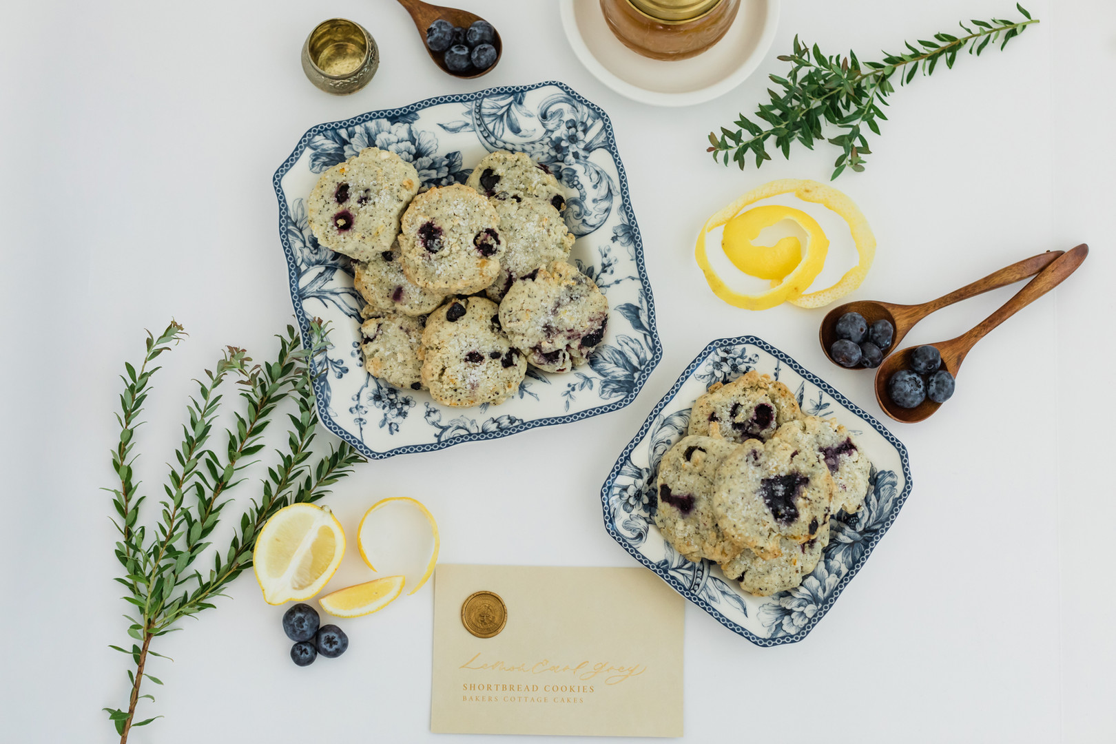 Lemon & Blueberry Earl Grey Short Bread