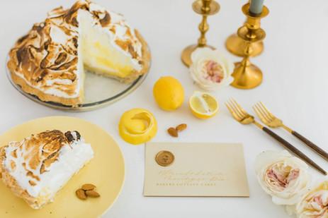 Lemon Meringue Pie with Buttery Almond C