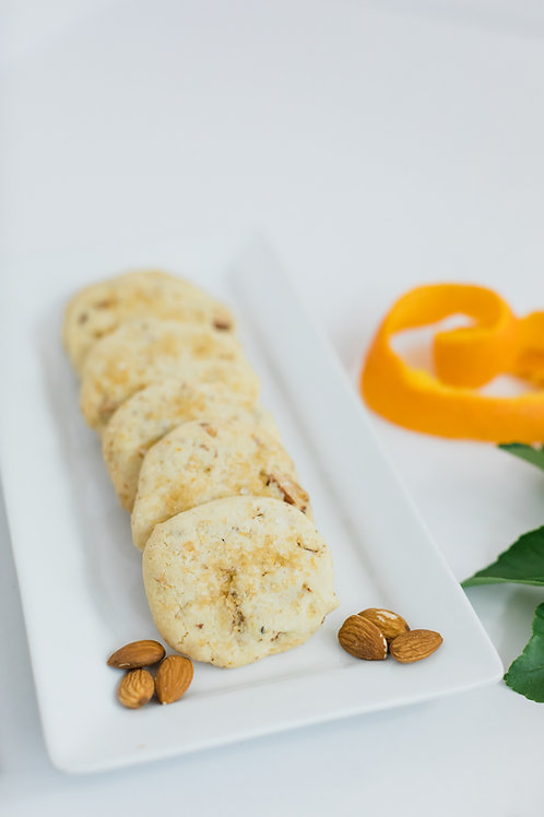 Orange Blossom Almond Shortbread Cookie