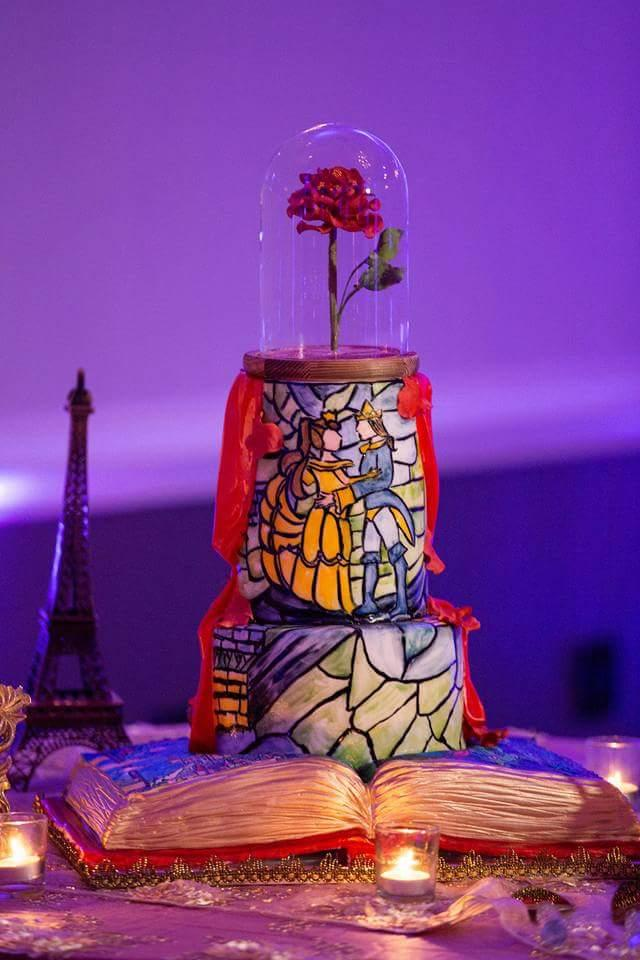 Beauty and the Beast Cake 9