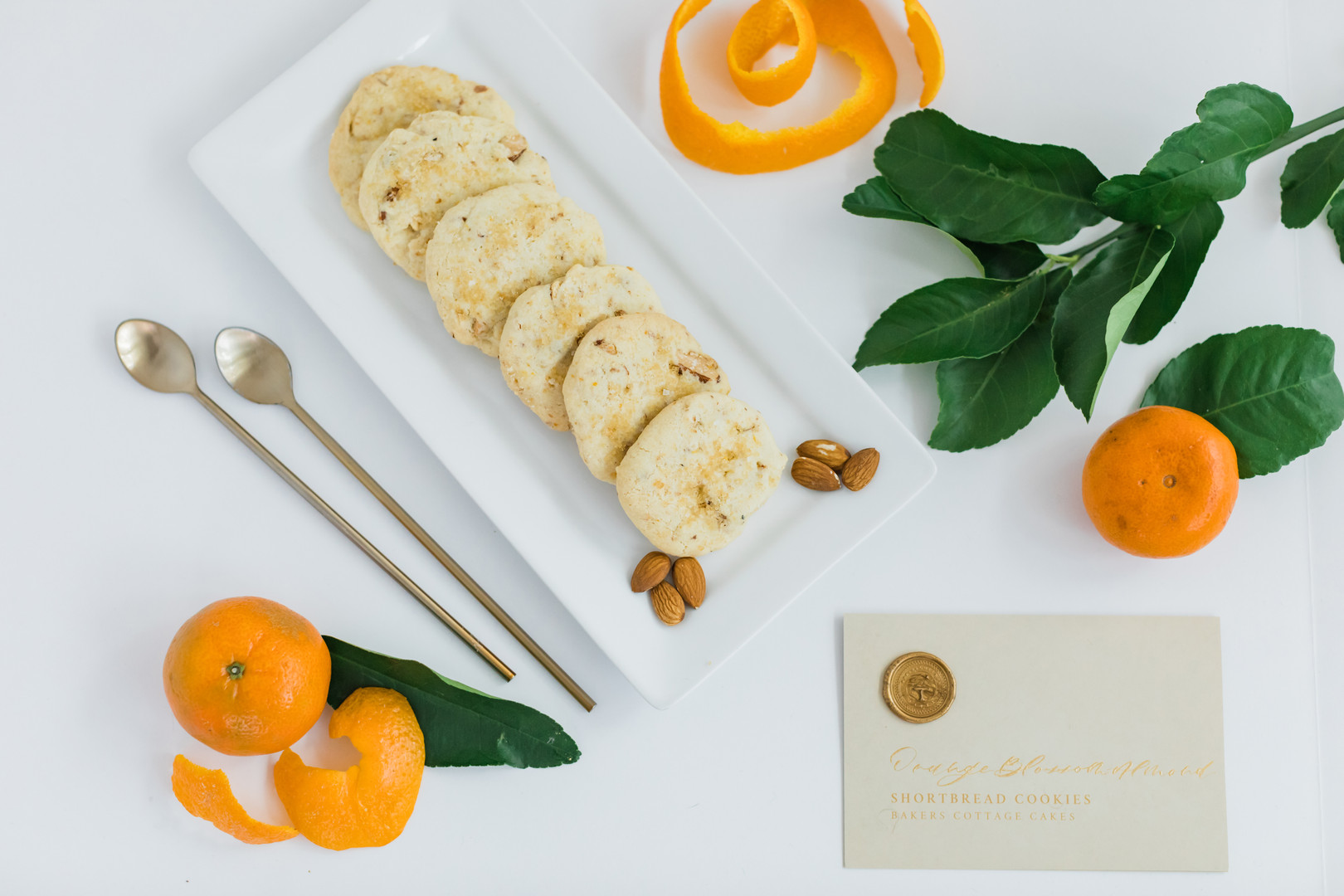 Orange Blossom Almond Short Bread Cookie