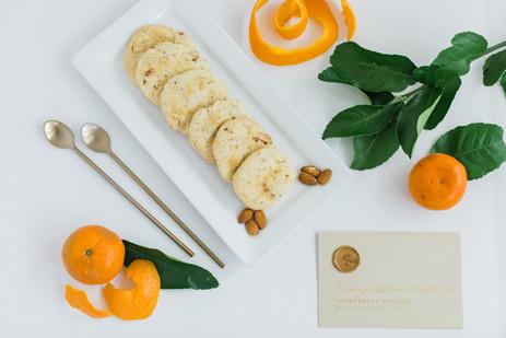 Orange Blossom Almond Short Bread Cookie