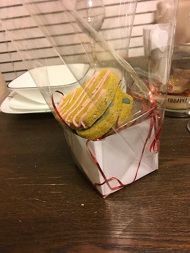 Box of Heart cookies