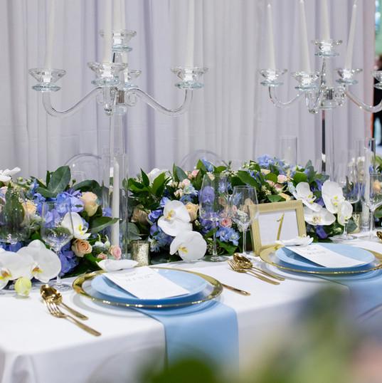 Luxury wedding candelabra