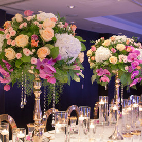 Tall orchid centrepiece