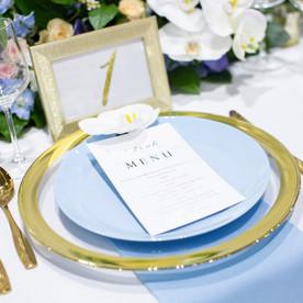 Luxury wedding tablescape