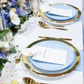 Luxury Blue wedding table decor