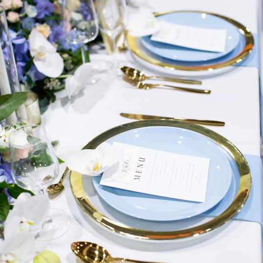 Luxury Blue wedding table decor