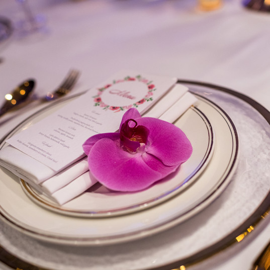 Luxury wedding tableware