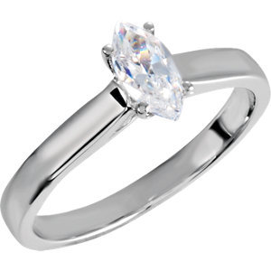 **10K White 1/2 CTW Diamond Engagement Ring
