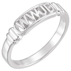 Sterling Silver What Would Jesus Do Ring Size 9