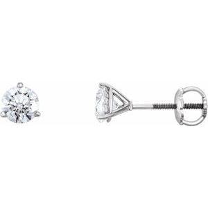 14K White 1 CTW Diamond Earrings