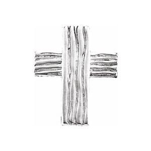 14K White 18x14.5 mm The Rugged Cross® Lapel Pin