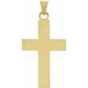 14K Yellow 28x18 mm Cross Pendant